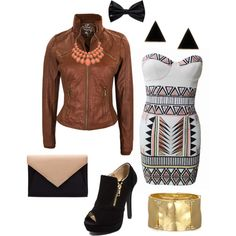 """Clubbing Outfit"" by tara-swann on Polyvore. I like the dress not the jacket"