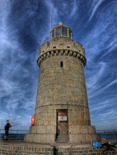 The Castle Breakwater lighthouse on Guernsey, Channel Islands