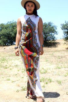*SALE* Dashiki Maxi Dress Circa 1970s – Honeywood