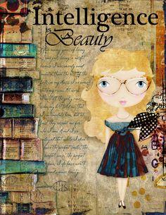 Art Journaling - Intelligence is Beauty