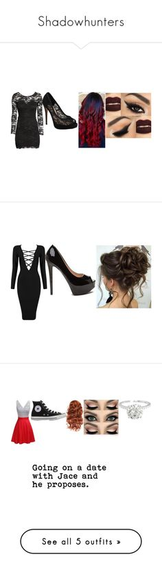 """""""Shadowhunters"""" by satans-child-973 ❤ liked on Polyvore featuring H&M, Vince Camuto, Posh Girl, Converse, Plein Sud, Fahrenheit, Le Silla and Stele"""