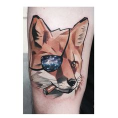 My Metal Gear Solid inspired tattoo Done by the extremely talented Matyas Halasz - @csiga Just amazing #tattoo #tattoos #foxtattoo #foxtattoos #metalgearsolid #metalgearsolidtattoos #mgstattoo