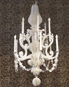 paper chandelier instructions