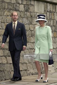 Prince Edward [ Earl Of Wessex ] Arriving With His Wife, Sophie, Countess Of Wessex For A Service At St George's Chapel, Windsor, Berkshire, To Mark The 80th Birthday Of Prince Philip. The Countess Is Wearing A Pale Green Dress With A Matching Long Jacket.