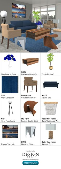 Created with Design Home! Fiddle Fig, Fig Leaves, Fortune Cookie, Crates, House Design, Flooring, Living Room, Chair, Home