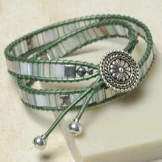 Free Tila Bead Wrap Bracelet Project Tutorial | Mosaic Wrap | Beadshop –…