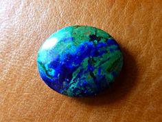 Azurite 26,5 carat, Peruvian Beautiful Azurite Gem Stone for Making Jewelry, Cabechon Azurite, Blue and Green Gem Stone - pinned by pin4etsy.com