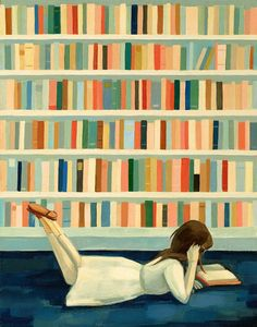 little girl reading illustration - Google Search