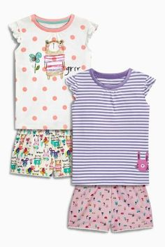 Buy Multi Bear Shorts Pyjamas Two Pack (9mths-8yrs) from the Next UK online shop