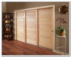 Wood 3 Panel Sliding Closet Doors Door Hardware Barn Bedroom