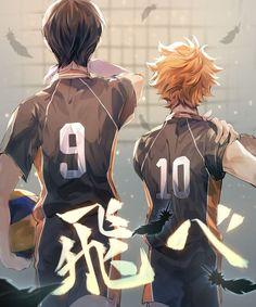 Kageyama X Hinata, Haikyuu Karasuno, Haikyuu Fanart, Haikyuu Anime, Haikyuu Ships, Manga Anime, Fanarts Anime, Anime Art, Poster Anime