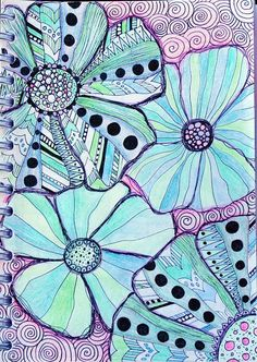 coco.nut: zentangle/ doodling/ drawing