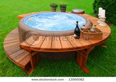 nice outdoor idea especially if yard isnt really big enough for a pool...sun and maybe build something that can be put over for shade.....
