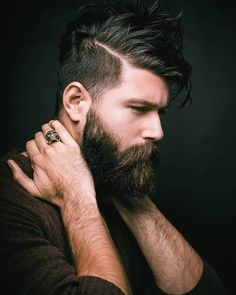 Arent-The-Fade/ bearded men, beautiful men, hair and beard styles, hair sty Great Beards, Awesome Beards, Beard Styles For Men, Hair And Beard Styles, Hair Men Style, Mens Hair Trends, Beard Lover, Beard Tattoo, Moustaches