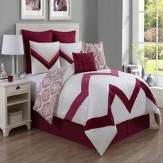 VCNY Marcella 8 Piece Comforter Set Berry