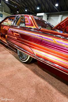 Custom Car Paint Jobs, Arte Cholo, Cool Car Accessories, Sweet Cars, Pinstriping, Cute Cars, Car Painting, Vintage Cars, Dream Cars
