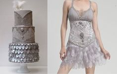 grey fashion inspired cake by Coocakecachoo