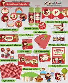 Kit Decoração Festa Chapéuzinho Vermelho