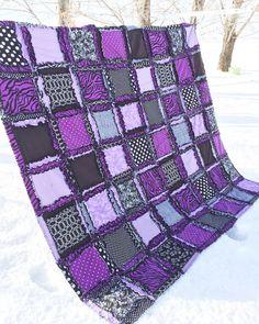 Teen Girl Bedding Sets-Zebra Bedroom Quilt-Purple and Black (King, Queen, Full, Twin)