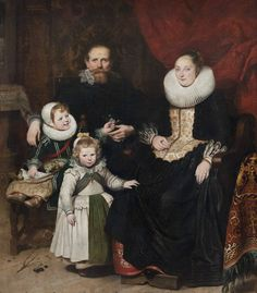Cornelis de Vos (1584-1651) — Self-portrait of the Artist and His Family,  1621 :The Royal Museums of Fine Arts of Belgium, Brussel.  Belgium (897×1024)