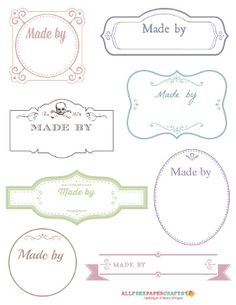 Free Printable Victorian Labels for Handmade Crafts | AllFreePaperCrafts.com