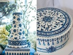 Bolos de casamento pintados à mão!! | Marilusa Santos                                                                                                                                                      Mais