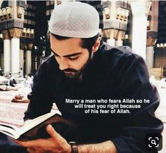Marry a man who fears Allah so he will treat you right because of his fear of Allah. Islamic Quotes On Marriage, Muslim Couple Quotes, Islam Marriage, Muslim Love Quotes, Love In Islam, Beautiful Islamic Quotes, Islamic Inspirational Quotes, Muslim Couples, Ali Quotes