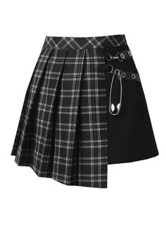 Gothic fashion 775674735805015686 - Liana Black Tartan Asymmetrical Gothic Kilt Skirt by Dark in Lov Source by Kpop Fashion Outfits, Stage Outfits, Edgy Outfits, Mode Outfits, Cute Casual Outfits, Cute Fashion, Pretty Outfits, Girl Fashion, Girl Outfits
