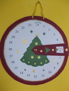 Karácsonyváró ádventi naptár, Dekoráció, Karácsonyi, adventi apróságok, Adventi naptár, Ünnepi dekoráció, Meska