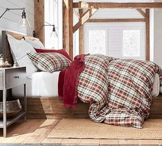 Big Daddy's antique reclaimed bed (pottery barn) - platform bed, iron vertical edging on headboard