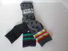 3 pair Steve Madden knee high socks size 9-11  polka dot new in package #SteveMadden #KneeHigh
