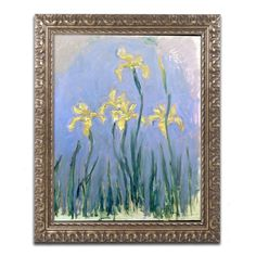 The Yellow Irises, 1918-25 by Claude Monet Framed Painting Print