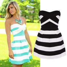 Sexy Hit Color Striped Dress