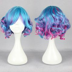Free Shipping Cheap New pop 30cm Long Multi-color Beautiful lolita wig 476a #Moscer #Nonelacewigs