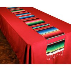 Woven Serape Table Runner - Table Accessories - Amols' Fiesta Party Supplies