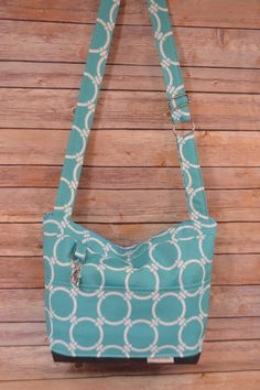 Camera Bag in Turquoise beach Blue Outdoor Canvas / by DarbyMack