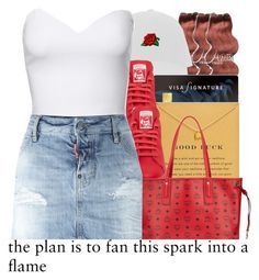 """""""ready for summer 2."""" by trillestqueen ❤ liked on Polyvore featuring &K, Dogeared, Jane Norman, MCM and Dsquared2"""
