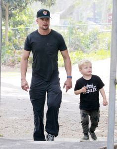Josh Duhamel WITH AXL IN OUR PLUS BAGGY PANTS