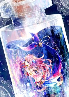 grafika mermaid, anime, and anime girl