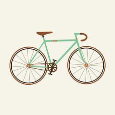 Green Fixie par Karin Bijlsma en Impression sur toile | Achetez en ligne sur JUNIQE ✓ Livraison fiable ✓ Découvrez de nouveaux designs sur JUNIQE !