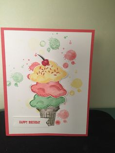 Another fun sneak peek Sprinkles of Life stamp set Tree builder punch and Gorgeous Grunge stamp set New in colors Cucumber Crush and Watermelon Wonder