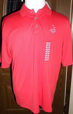 PINEHURST PUTTERBOY GOLF POLO SHIRT - L - NWT -  RED Tags Attached retail $87.00 #PutterboyPerformance #PoloShirt