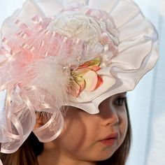 Baby Girl Hat  Spring Easter Tea Party Ascot Derby Hat by Amarmi, $48.00