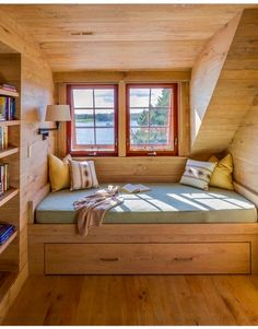 Reading nook with a cabin view ✅