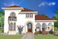 Romanian Traditional Houses – A Heartfelt Feeling Of Beauty - Houz Buzz Hut House, Colonial House Plans, Spanish House, Spanish Colonial, House Elevation, New Home Designs, Design Case, Modernism, Traditional House