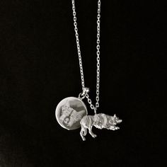 Silver Border Collie Charm - Crouching Collie