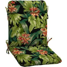 better homes and gardens outdoor cushions. Better Homes And Gardens Wrought Iron Chair Outdoor Cushion, Black Tropical Hibiscus Cushions