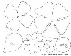 free felt ornament patterns | Felt Flower Patterns http://craftnook.blogspot.com/2013_03_01_archive ...