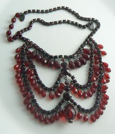 Hey, I found this really awesome Etsy listing at https://www.etsy.com/listing/206468398/miriam-haskell-red-rhinestone-crystal
