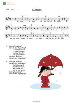 Raindrops Knock - Children& Songs for Kita & Nativity - Lieder unter 3 - Kindergarten Portfolio, Kindergarten Songs, Finger Games, Quotes Deep Feelings, Kids Songs, Music Education, Preschool Activities, Diy For Kids, Baby Kids